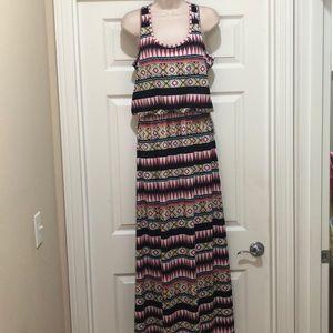 NWOT Magic Print Long Dress Size M